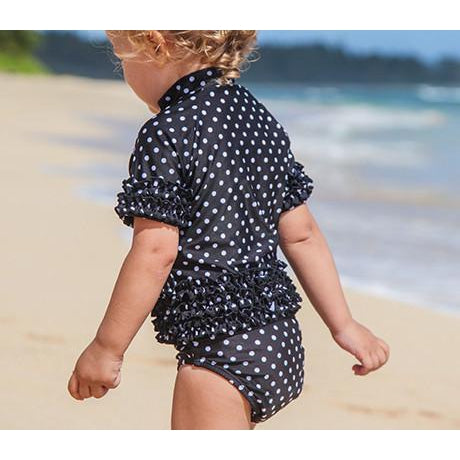 toddler girl ruffle rashguard by swimzip