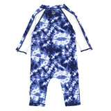 "Sunsuit - Long Sleeve Romper Swimsuit with UV 50+ UV Sun Protection | ""Tie Dye""-SwimZip UPF 50+ Sun Protective Swimwear & UV Zipper Rash Guards-pos2"