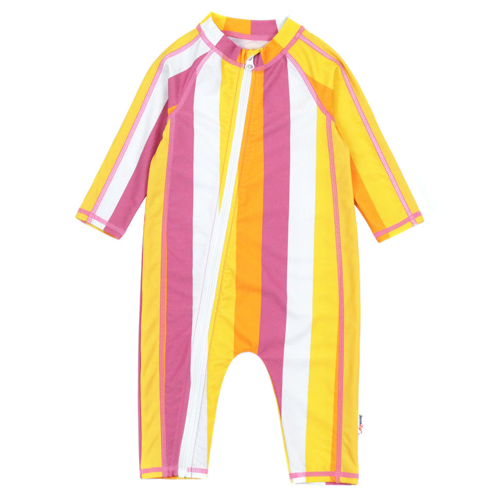 "Sunsuit - Long Sleeve Romper Swimsuit - ""Be Bold"" - SwimZip Sun Protection Swimwear"