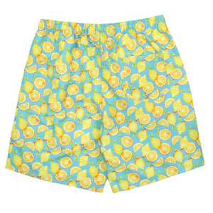 "Men's 8""-8.5"" Swim Trunks - ""Lemons"" - SwimZip Sun Protection Swimwear"