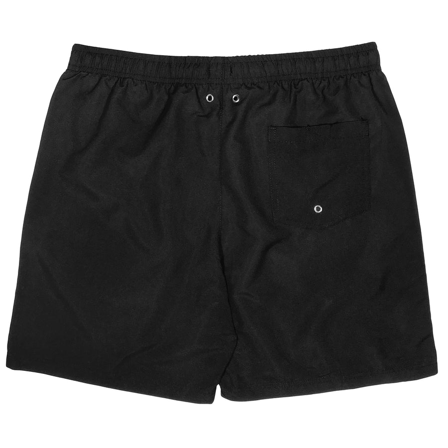 "Men's 6.5"" Swim Trunks - Black - SwimZip Sun Protection Swimwear"