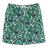 "Men's 8""-8.5"" Swim Trunks - Multiple Colors-Small-Palm Leaf-SwimZip UPF 50+ Sun Protective Swimwear & UV Zipper Rash Guards-pos6"
