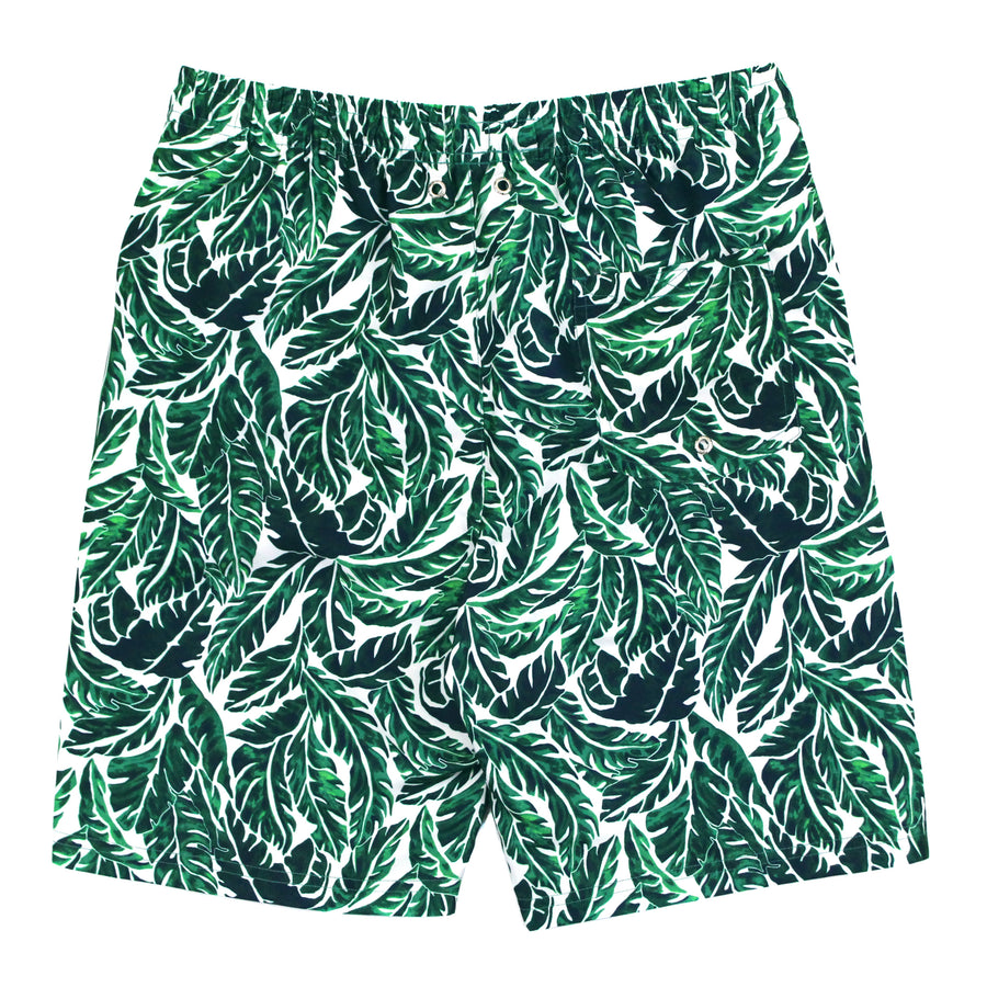 "Men's 8""-8.5"" Swim Trunks - ""Palm Leaf"" - SwimZip Sun Protection Swimwear"