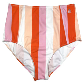 Women's Sun Protection High Waist Bottoms UPF 50+ | Peach Stripes