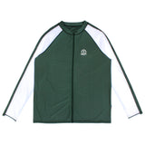 "Men's Long Sleeve Rash Guard - ""Cannonball King"" Hunter Green-Small-Green/White-SwimZip UPF 50+ Sun Protective Swimwear & UV Zipper Rash Guards-pos1"