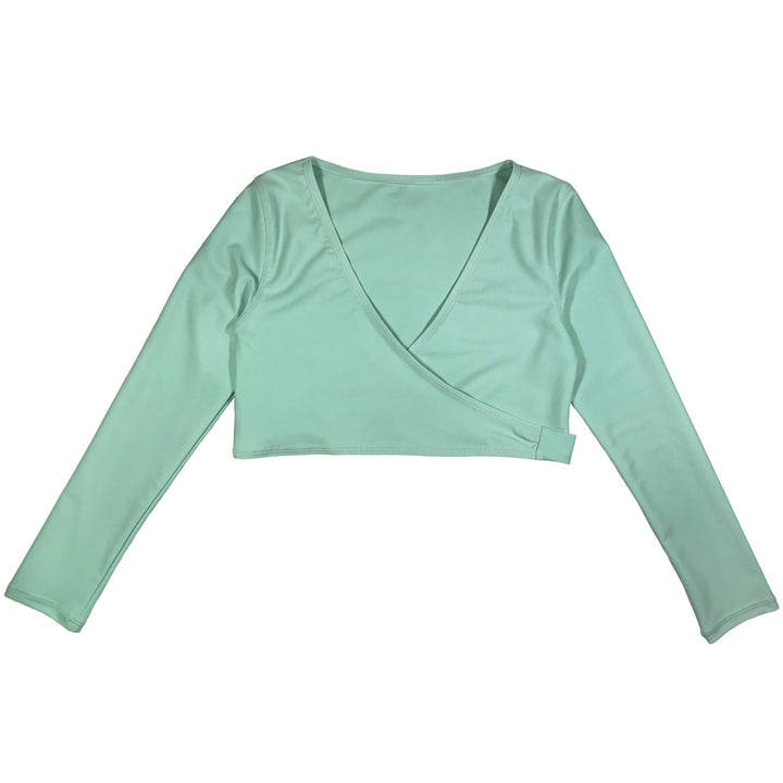 Girl's Swim Wrap Top (1 Piece) - Mint - SwimZip Sun Protection Swimwear