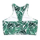 "Women's Halter Bikini Top UPF 50+ | ""Palm Leaf""-SwimZip UPF 50+ Sun Protective Swimwear & UV Zipper Rash Guards-pos3"