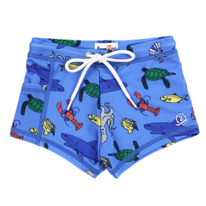 "Swim Shorties with SPF 50+ UV Sun Protection | ""Sea Animal"""