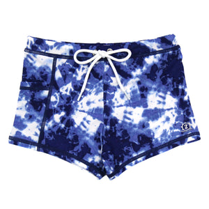 "Swim Shorties with SPF 50+ UV Sun Protection | ""Tie Dye"""