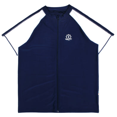 "Mens Rash Guard Short Sleeve Swim Shirt - ""Board Master"""