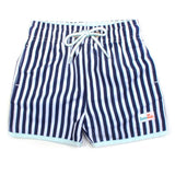 "Boy ""Catch a Wave"" Swim Trunks - Mini Navy Stripe-6-12 Month-Mini Navy Stripe-SwimZip UPF 50+ Sun Protective Swimwear & UV Zipper Rash Guards-pos1"