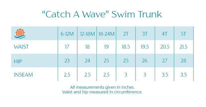 "Boy ""Catch a Wave"" Swim Trunks - Multiple Colors-SwimZip UPF 50+ Sun Protective Swimwear & UV Zipper Rash Guards-pos18"
