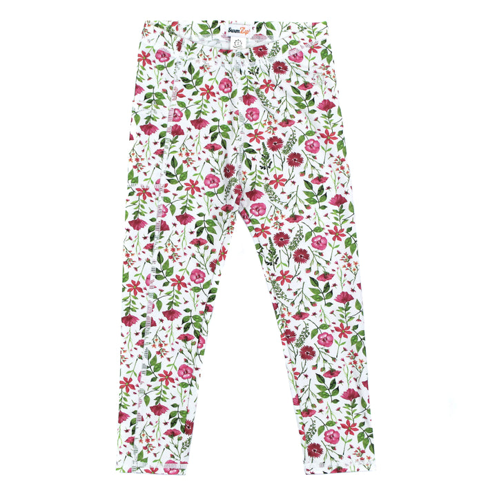 "Kid's Swim Pants - ""Floral Garden"" - SwimZip Sun Protection Swimwear"