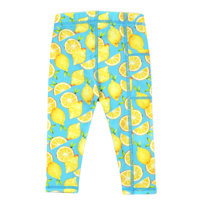"Kid's Swim Pants - ""Lemons""-SwimZip UPF 50+ Sun Protective Swimwear & UV Zipper Rash Guards-pos3"