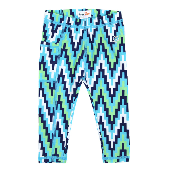 "Kid's Swim Pants - ""Zig Zag"" - SwimZip Sun Protection Swimwear"