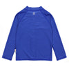 Unisex Long Sleeve Rash Guard Zipper UPF 50+ Swim Shirt | Amparo Blue