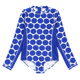 "Women's Long Sleeve Surf Suit UPF 50+ (1 Piece) | ""Oversized Dot""-XS-Dot-SwimZip UPF 50+ Sun Protective Swimwear & UV Zipper Rash Guards-pos1"