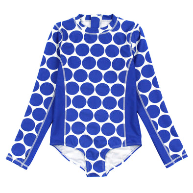 "Women's Long Sleeve Surf Suit UPF 50+ (1 Piece) | ""Dot"""