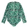 "Women's Long Sleeve Surf Suit UPF 50+ (1 Piece) | ""Palm Leaf"""