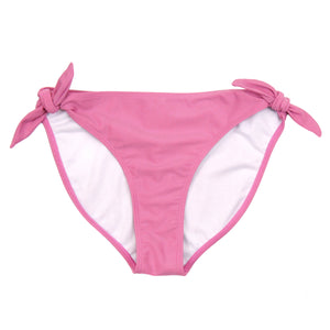 Women's Side Tie Bikini Bottom - Rose - SwimZip Sun Protection Swimwear