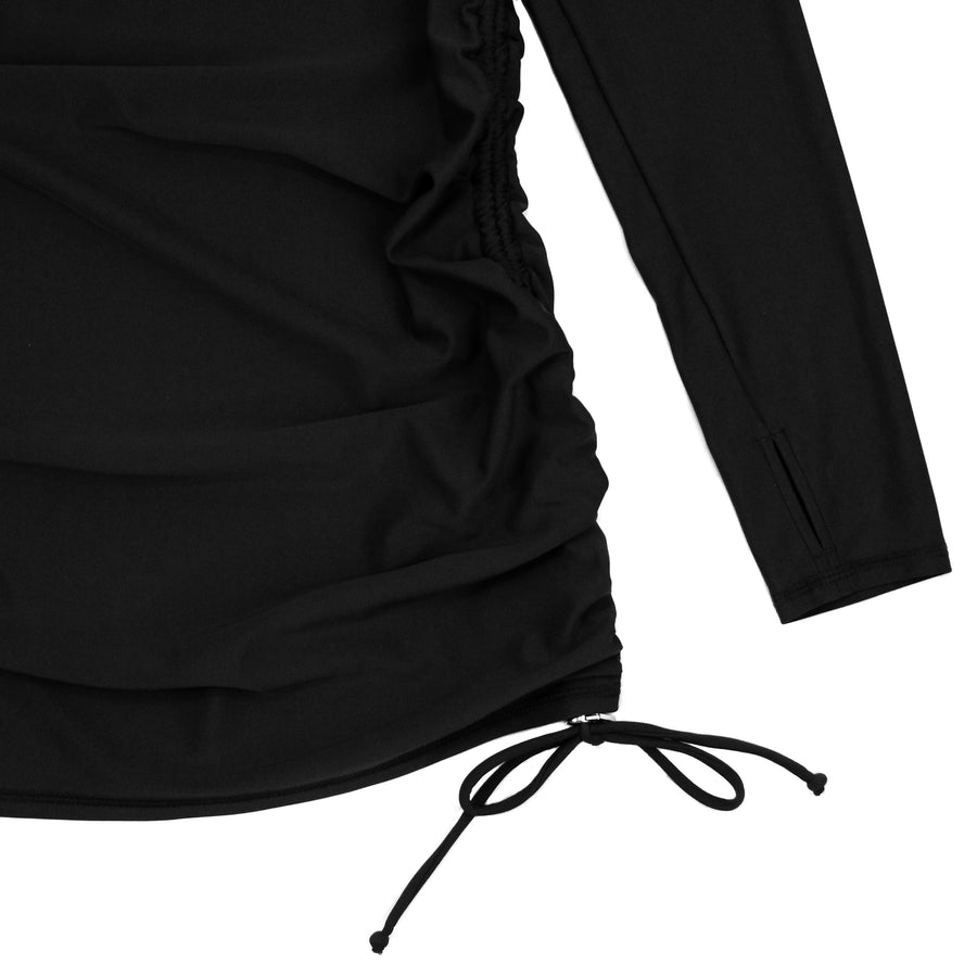 Women's Half Zip Swim Dress Cover Up - Black - SwimZip Sun Protection Swimwear