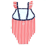 "Girl's Ruffle Strap One Piece Swimsuit - ""Stars and Stripes""-SwimZip UPF 50+ Sun Protective Swimwear & UV Zipper Rash Guards-pos3"