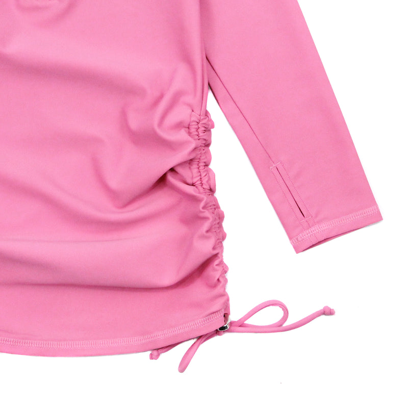 Girl's Long Sleeve Swim Dress Cover Up - Rose-SwimZip UPF 50+ Sun Protective Swimwear & UV Zipper Rash Guards-pos4