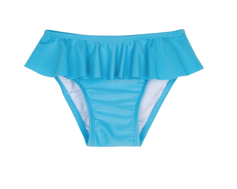 Girl Ruffled Bikini Bottom with UPF 50+ UV Sun Protection - Separates