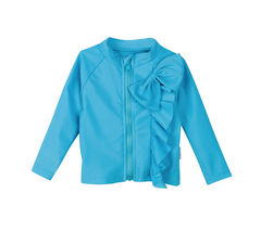 Cutie Cruiser - Girl Rashguard Long Sleeve Mint Chip Ruffle Bow