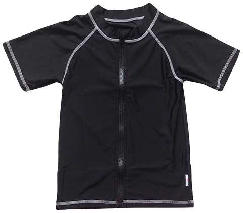 Sweet Splasher - Girl Rashguard Short Sleeve Black