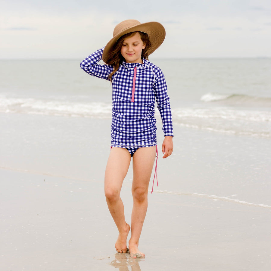 Girl's Long Sleeve Swim Dress Cover Up - Multiple Colors - SwimZip Sun Protection Swimwear