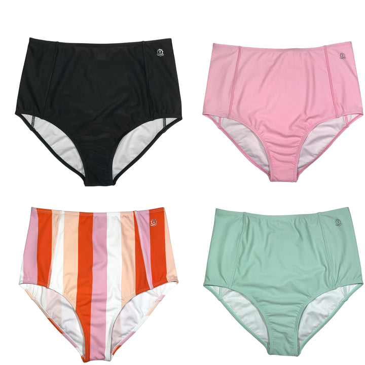 Women's High Waist Bikini Bottoms (Multiple Colors)