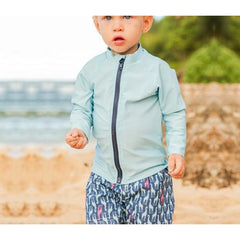baby boy long sleeve rash guard set swimzip