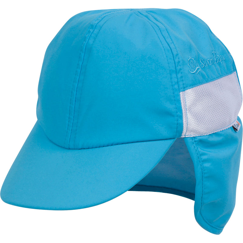 Kid's Flap Hat - UPF 50+ Adjustable Sun Hat - Multiple Colors-0-6 Month-Aqua-SwimZip UPF 50+ Sun Protective Swimwear & UV Zipper Rash Guards-pos8