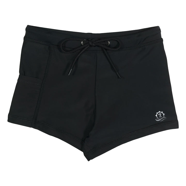 Kid's Euro Swim Shorties - Black