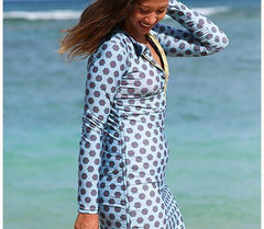 swim dress cover up zip swimzip blue