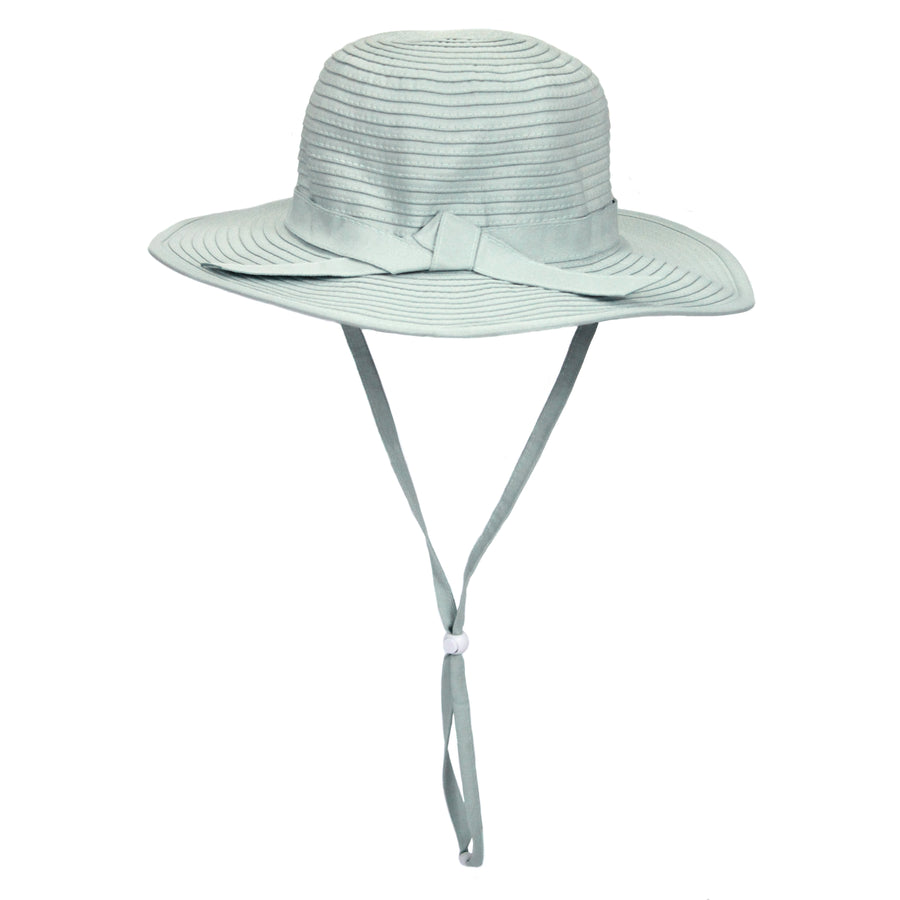 Girls' Wide Brim Sun Hat - Mint - SwimZip Sun Protection Swimwear