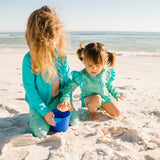 "Kid's Swim Pants | ""Seashell""-SwimZip UPF 50+ Sun Protective Swimwear & UV Zipper Rash Guards-pos5"