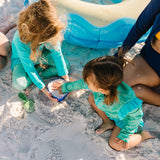 "Kid's Swim Pants | ""Seashell""-SwimZip UPF 50+ Sun Protective Swimwear & UV Zipper Rash Guards-pos7"
