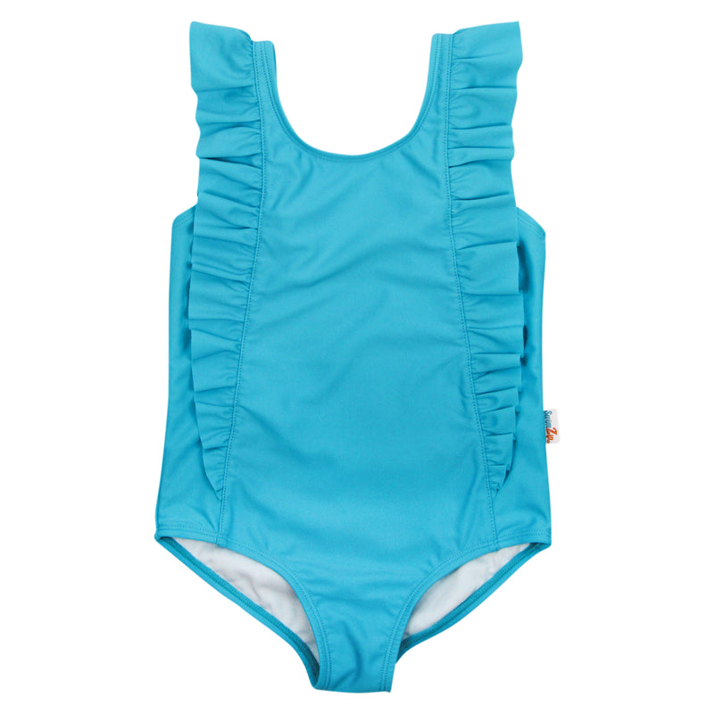 "Girl's ""Too Sweet"" Ruffle One-Piece Swimsuit 