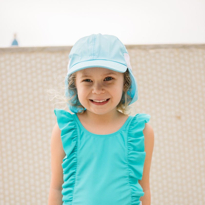Kid's Flap Hat - UPF 50+ Adjustable Sun Hat - Multiple Colors-SwimZip UPF 50+ Sun Protective Swimwear & UV Zipper Rash Guards-pos2