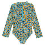 "Girl's Long Sleeve Surf Suit (1 Piece) | ""Geo Party""-SwimZip UPF 50+ Sun Protective Swimwear & UV Zipper Rash Guards-pos4"