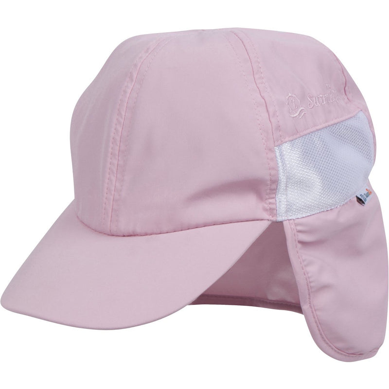 Kid's Flap Hat - Pink-Pink-0-6 Month-SwimZip UPF 50+ Sun Protective Swimwear & UV Zipper Rash Guards-pos1
