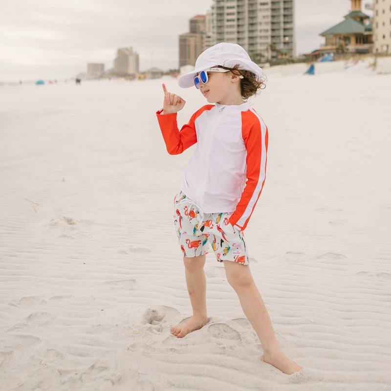 Kid's Flap Hat - UPF 50+ Adjustable Sun Hat - Multiple Colors-SwimZip UPF 50+ Sun Protective Swimwear & UV Zipper Rash Guards-pos5