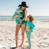 "Kid's Swim Pants | ""Seashell""-SwimZip UPF 50+ Sun Protective Swimwear & UV Zipper Rash Guards-pos2"