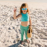 "Kid's Swim Pants | ""Seashell""-SwimZip UPF 50+ Sun Protective Swimwear & UV Zipper Rash Guards-pos3"