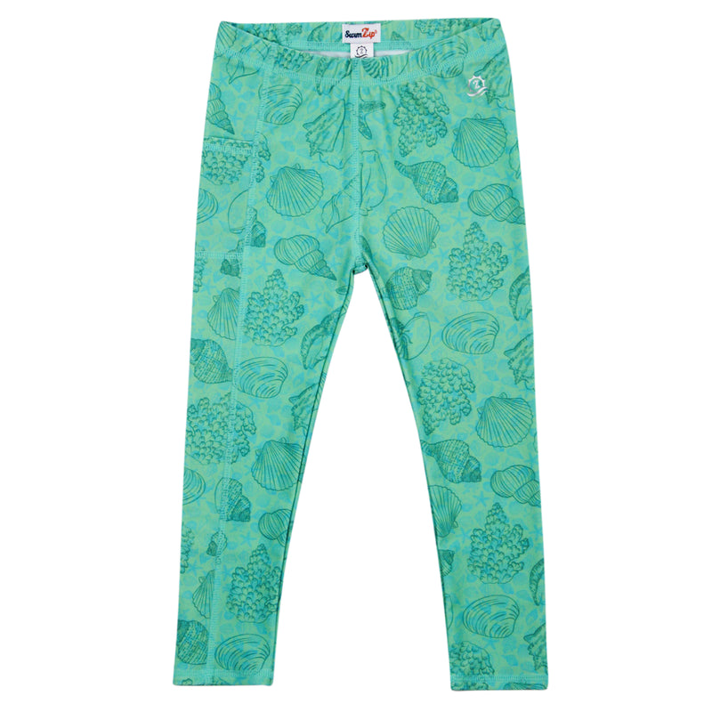 "Kid's Swim Pants | ""Seashell""-SwimZip UPF 50+ Sun Protective Swimwear & UV Zipper Rash Guards-pos1"