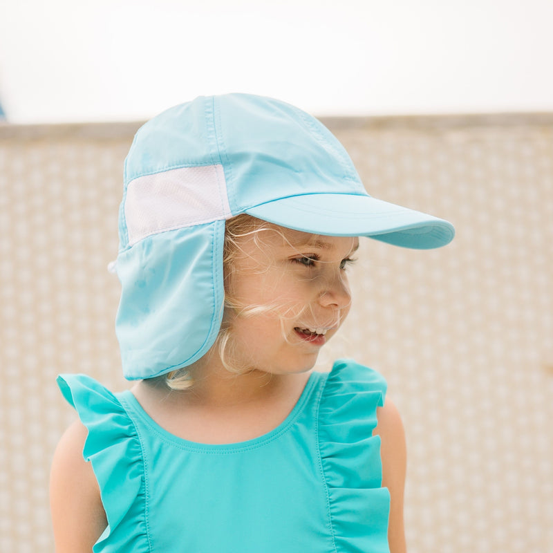 Kid's Flap Hat - UPF 50+ Adjustable Sun Hat - Multiple Colors-SwimZip UPF 50+ Sun Protective Swimwear & UV Zipper Rash Guards-pos3