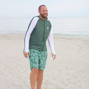 "Men's 8""-8.5"" Swim Trunks - ""Palm Leaf"""