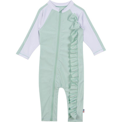 baby sunsuit romper mint green swimzip
